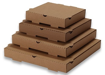 KK Plain Stock Pizza Boxes